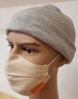 Behelfs-Mund-Nasen-Maske weiß