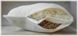 FLExxIMA-med Schafwoll-Dinkel 2-Kammer Kissen 40x80 cm